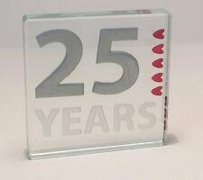 25th Silver Wedding Anniversary Spaceform 25 Years of love Token Gift ideas 1333