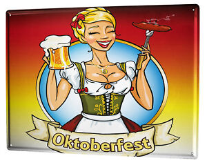 Tin Sign XXL Holiday Travel Agency  Oktoberfest