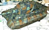 BUILT WW2 GERMAN KING TIGER II 1/48 SCALE W/ SIGHT in hatch SHOWING EXPLOSION