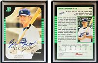 Blake DeWitt Signed 2005 Bowman #159 Card Los Angeles Dodgers Auto Autograph
