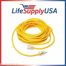 14/3 125V SJT Extension Cord LIGHTED Prong 100ft foot feet 100 FT INDOOR OUTDOOR
