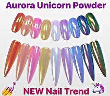 NEW!  Aurora Unicorn Pearl AB Mermaid Chrome Pigment Powder - Nail Trend 2017