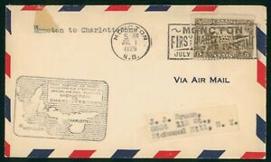 Mayfairstamps Canada Flight 1929 Moncton to Charlottetown Air Mail Cover wwp_658