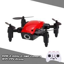 S9W 2.4G 4CH 0.3MP Camera WIFI FPV Mini Drone Altitude Hold Flight Planning V4N3