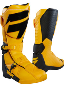 2018 Shift WHit3 Label Motocross Boots in Yellow Size UK11 US12 BNIB