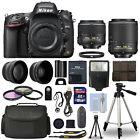 Nikon D610 Digital SLR Camera + 16GB Multi Lens Bundle: 18-55mm + 55-200mm VRII
