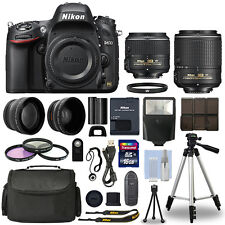 Nikon D610 Digital SLR Camera + 16GB Multi Lens Bundle: 18-55mm + 55-200mm VRII