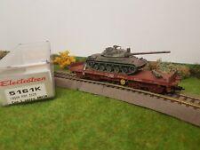 Wagon plat porte char amx30 Electrotren 5161k ho
