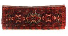 Antique Turkemen Saddle Bag Rug, 19th Century. Red Field Geometric Designs
