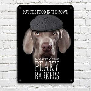 Peaky Barkers Weimaraner dog Sign - blinders A4 Print Metal Sign