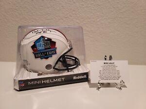 "Bob Lilly Autographed HOF Mini Helmet ""HOF 80"" Inscription."