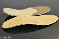 LUXUS BISON Fußbett  Leder Sohle Orthopädische Einlage Schuheinlagen NEU 37-46
