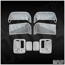2008-2016 Ford F-250 Super Duty 2dr Chrome Door Handle Mirror Cover Trim