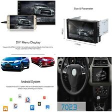 Ultra-thin HD Capacitive Touch 2DIN Car GPS Navigation DVR FM Radio WIFI Android