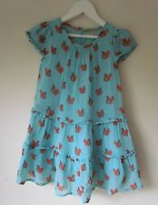 MINI BODEN Girls Blue Squirrel  Design Summer Dress age 4-5