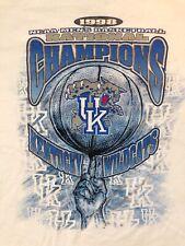 Vintage 1998 Starter Kentucky Wildcats T-shirt Mens XL White NCAA Basketball