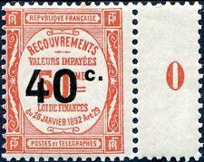FRANCE TAXE N° 50 NEUF** TENANT À PONT MILLÉSIMÉ 0 (1910)