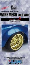 Fujimi Models 1/24 15inch Wire Mesh Gold Wide Version Wheels & Tyres (4 Wheels)
