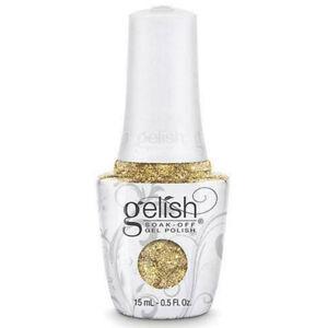 GELISH PRO SOAK-OFF GEL NAIL POLISH GOLDEN TREASURE 15mL TOP BASE COAT UV LED
