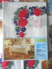 120x150 cm Tischdecke Blumenmuster Transparent SCHUTZDECKE GARTENDECKE Vinyl Neu
