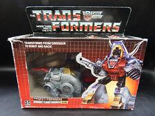 vintage G1 Transformers Dinobot SLAG autobot toy 100% complete w/ original box !
