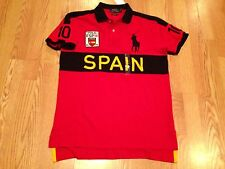 Polo Ralph Lauren big pony Spain Spanish World Cup Olympic flag #10 shirt XL red