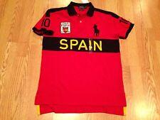 Polo Ralph Lauren big pony Spain Spanish World Cup Olympic flag #10 shirt XL red