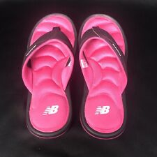 NEW BALANCE Womens Cushioned Sport Flip Flop Sandals Sz 7 Pink and Black shoes