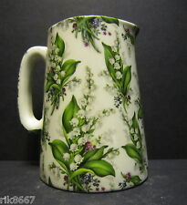 Heron Cross Pottery Lily Of The Valley Chintz English 1/2 Pint Milk Jug