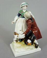 KPM Figurengruppe ' Mann und Frau mit Katze ', 1. Wahl, Figur, Höhe 18,5 cm