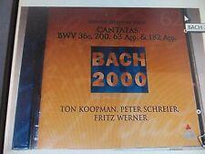 BACH 2000 Cantatas 36c 200 63 182 KOOPMAN TELDEC OOP CD