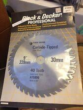 "black & decker proffessional carbide tipped 9"" blade circular saw 40 Teeth"