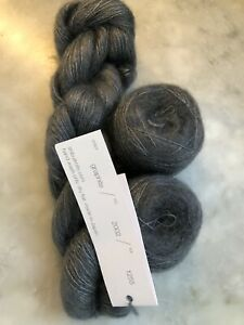 SHIBUI KNITS YARN SILK CLOUD, 3 FULL SKEINS, Color GRAPHITE