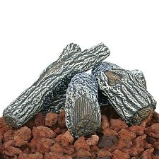 Uniflame Lava Rock and Log Kit for Propane Fire Pits - Heat Resistant & Durable