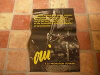 belle affiche referendum 1958 oui a la promotion ouvriere  citation de de gaulle