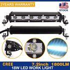 7in 18W Spot LED Work Light Car Truck Boat Driving Fog Offroad SUV 4WD Bar Slim