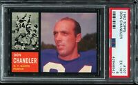 1962 Topps Football #107 DON CHANDLER New York Giants PSA 6 EX-MT