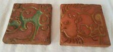 New listing Batchelder Los Angeles California 2 tiles Mayan/