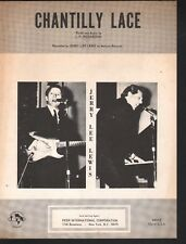 Chantilly Lace 1958 Jerry Lee Lewis Sheet Music