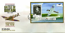 St Helena 2010 FDC WWII WW2 Battle of Britain Douglas Bader 1v M/S Cover Stamps