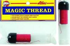 Atlas Mike's Magic Thread Tie Spawn Sacs 100' Feet Roll With Dispenser Red