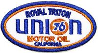 Patch Iron on Union 76 Oil ROYAL TRITON Gasoline Racing T shirt Hat Jacket Sign