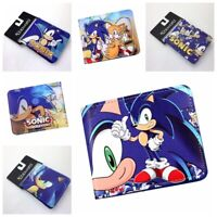 Game Sonic The Hedgehog series Wallet Bifold Purse PU Leather Card Holders
