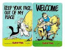 2 NOVELTY BOOKMARKS - BORDER COLLIE  - SHEEP - KEEP YOUR FACE OUT - DOUBLE SIDED