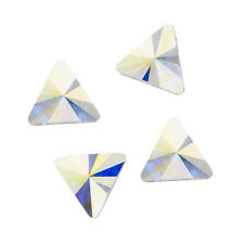 Swarovski Crystal, Rivoli Triangle Flatback Rhinestone 5mm, 10 Pcs, Crystal AB