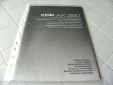 Yamaha AX-390 Owner's Manual  Operating Instructions Istruzioni New