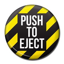 PUSH TO EJECT, Aviation Themed Fridge Magnet, Aviator Pilot USAF Luso Aviation