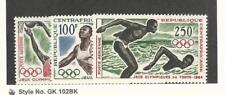 Central Africa, Postage Stamp, #C21-C23 Mint LH, 1964 Olympics, Basketball