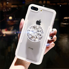 3D Diamond Airbag Bracket Imitation Glass Case Cover For iPhone Xr Xs Max &Other
