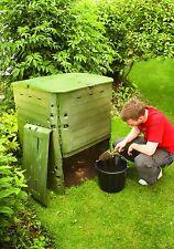 Large insulated composter. 600 litre plastic compost bin ideal for big gardens